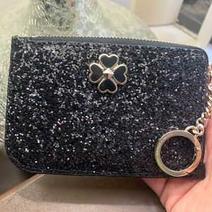 Authentic Kate Spade glitter/Patent leather cd/Key